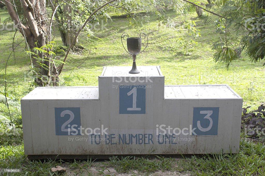 Winner podium royalty-free stock photo