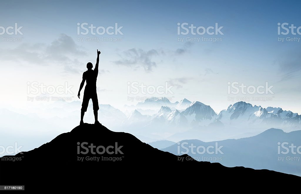 Winner silhouette stock photo