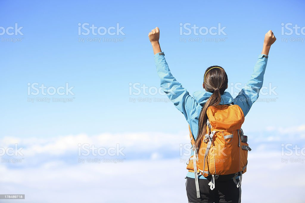 Winner / Success concept - hiking stock photo