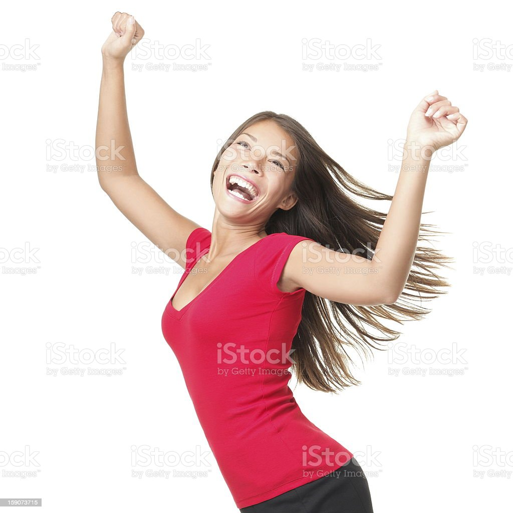 Winner success woman stock photo