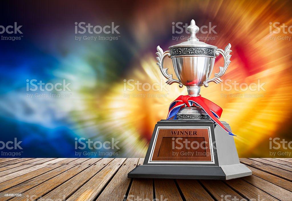 Winner trophy stock photo