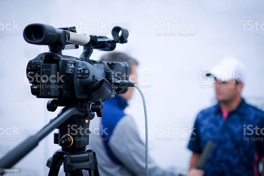 Winner TV Interview - XLarge royalty-free stock photo