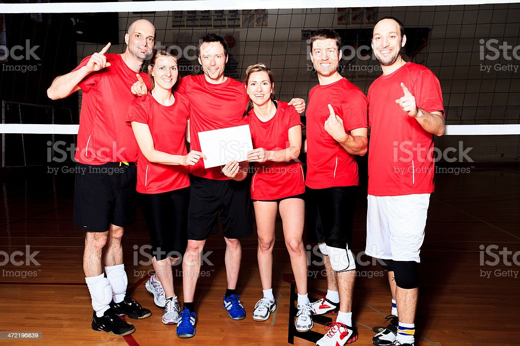 Winner Volleyball Team stock photo