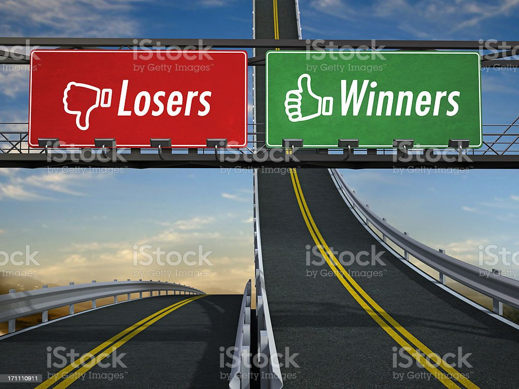 Winners and losers royalty-free stock photo