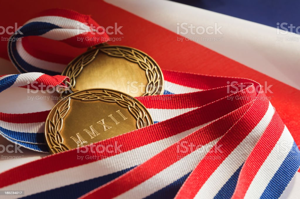 Winners Gold Medals royalty-free stock photo