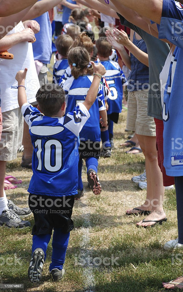 Winners In Soccer royalty-free stock photo