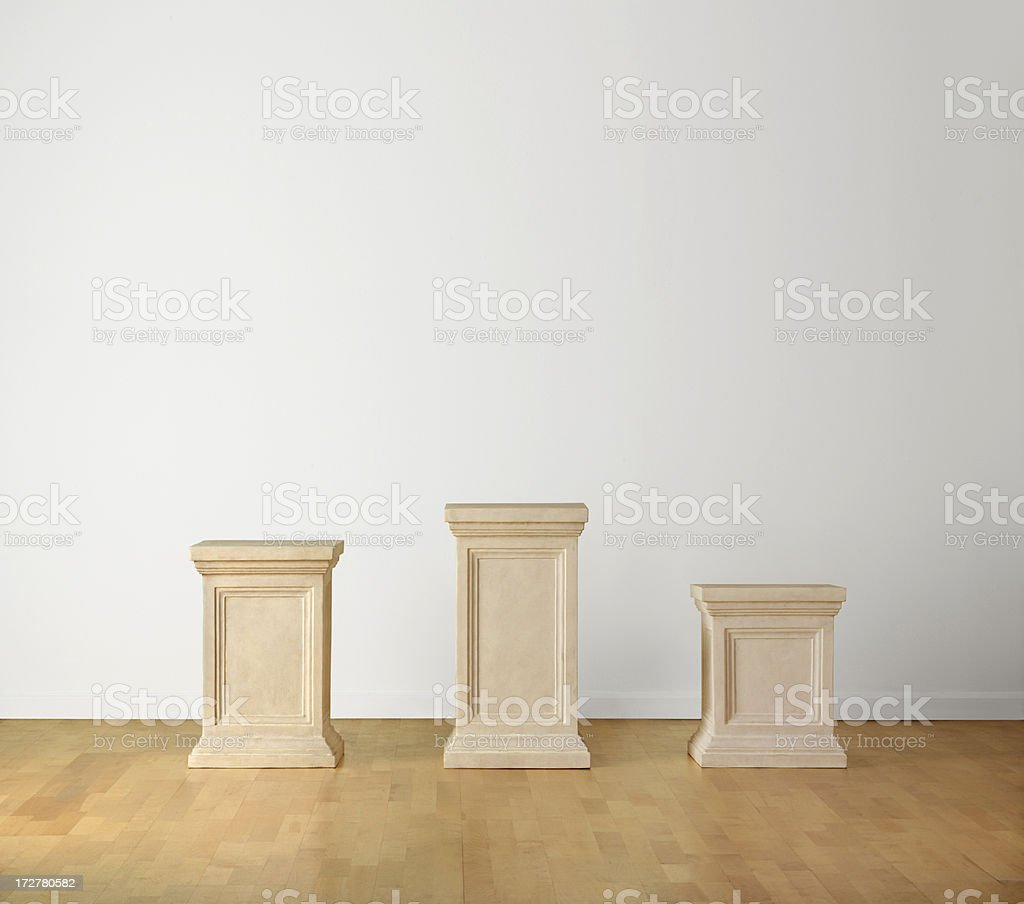 Winners Pedestals royalty-free stock photo