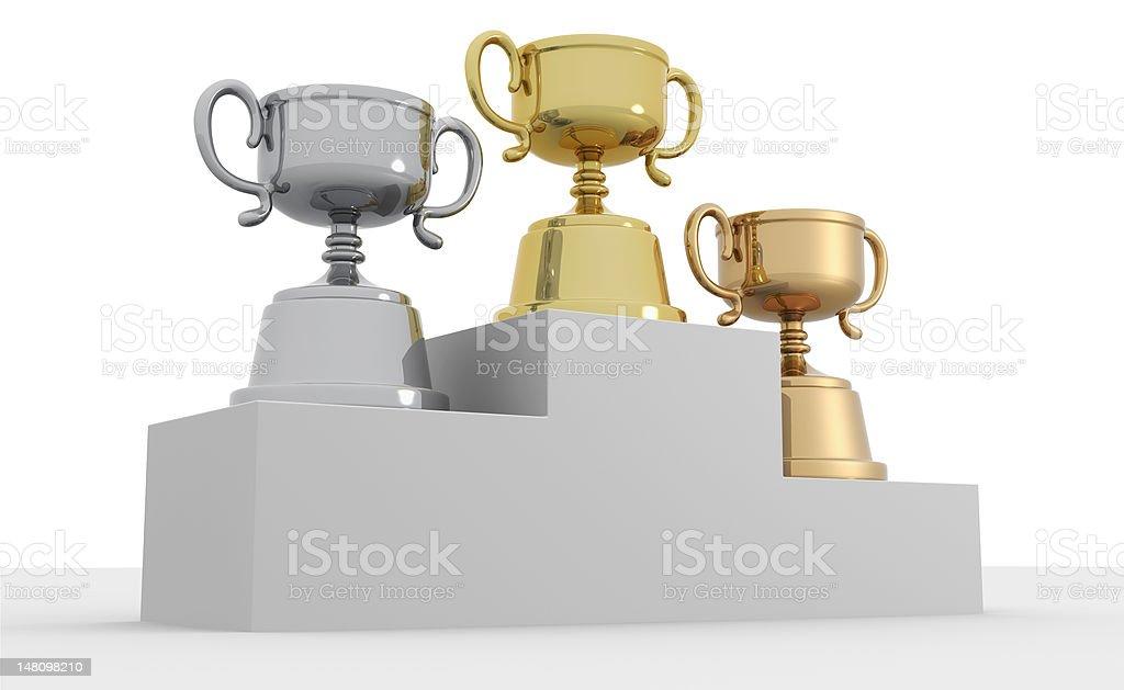 Winners' platform royalty-free stock photo