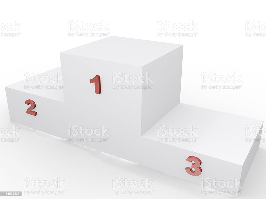 winner's podium, 3d imagen, competition concept royalty-free stock photo