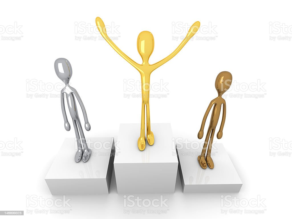 Winners podium royalty-free stock photo