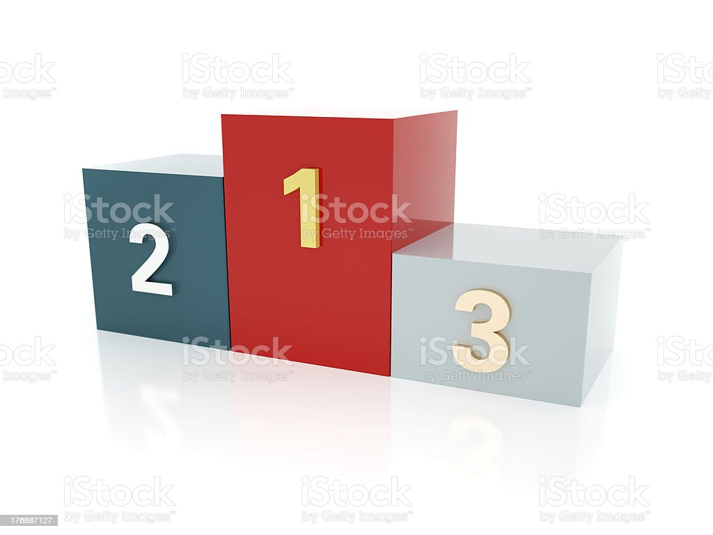 3D Winners' Podium stock photo