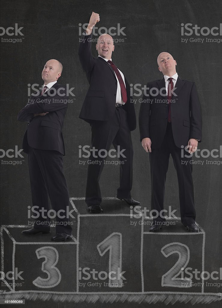 winner'€™s podium royalty-free stock photo