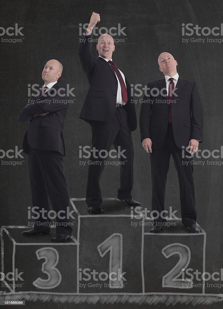 winner'€™s podium stock photo