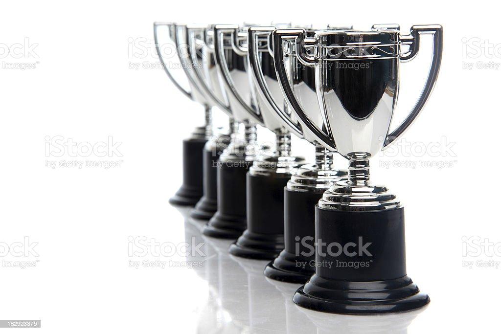 Winners Trophies stock photo