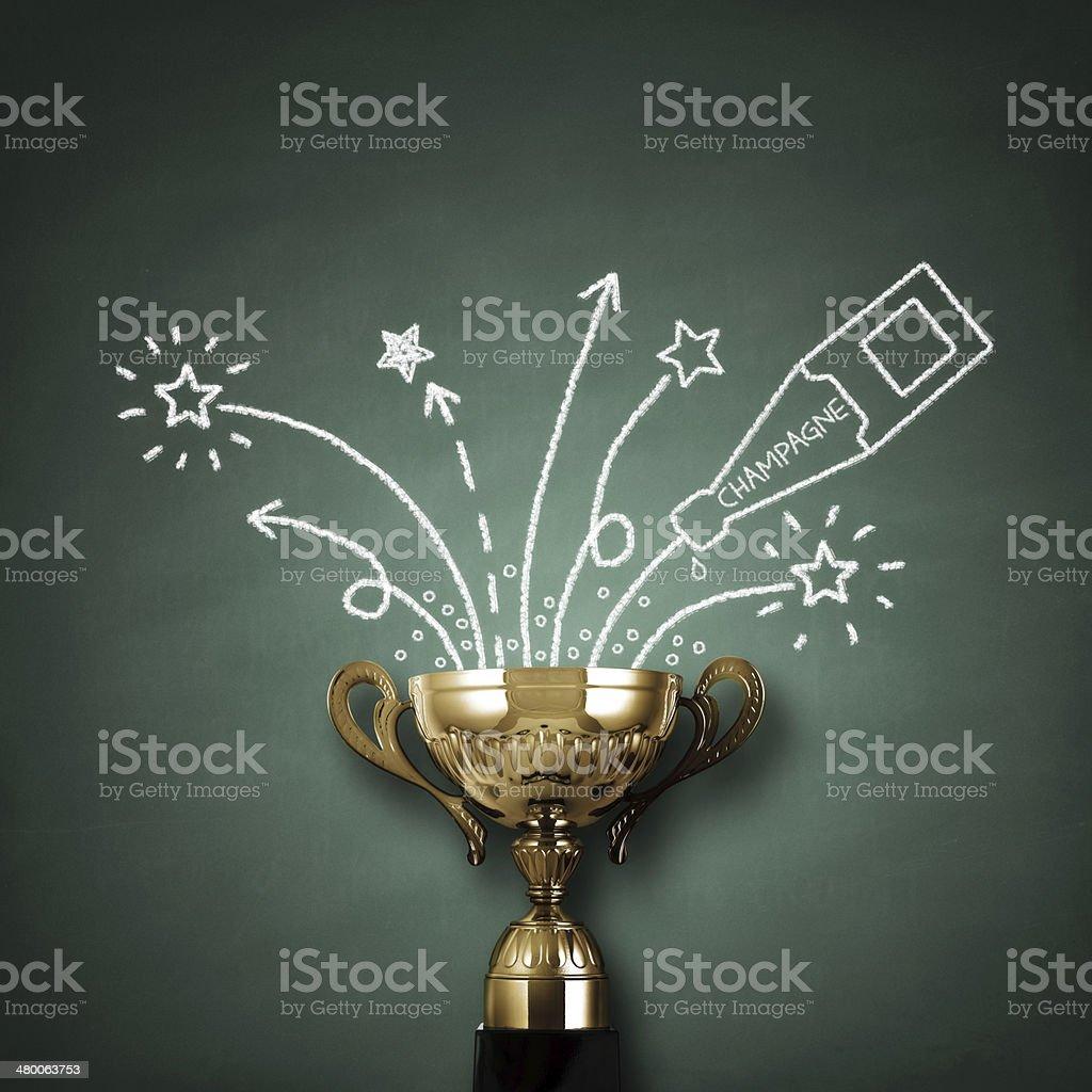 Winners trophy royalty-free stock photo