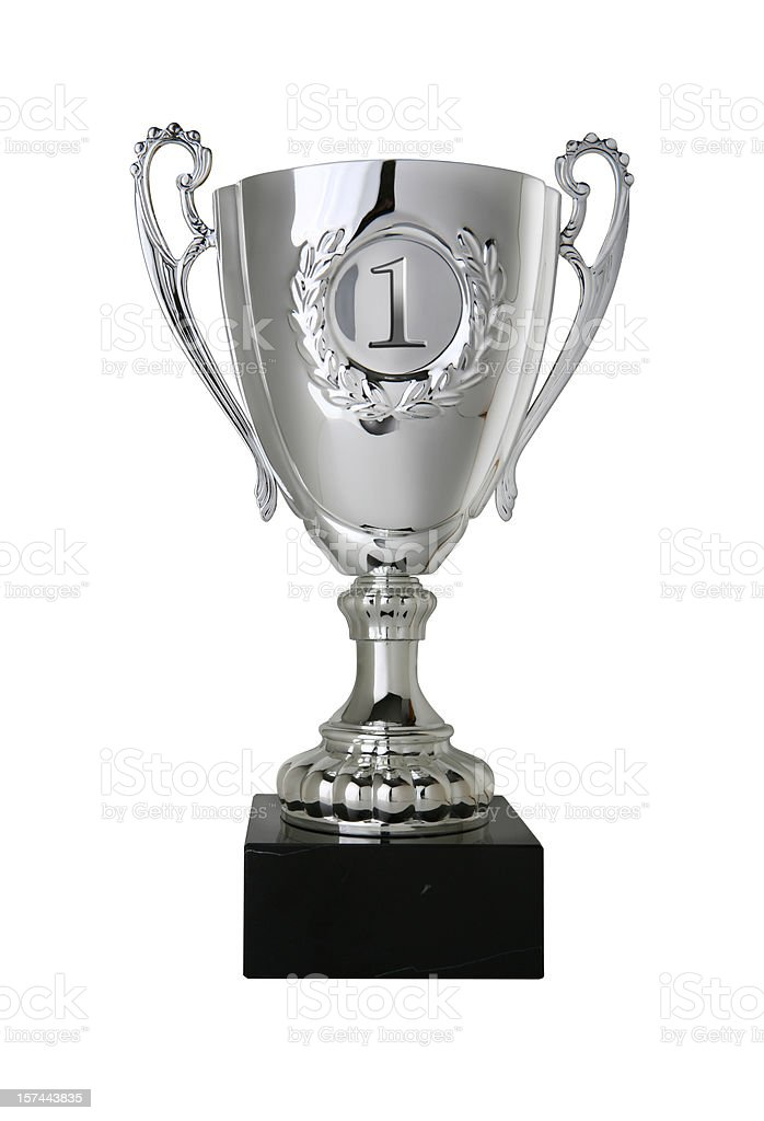 Winners Trophy with Clipping Path royalty-free stock photo