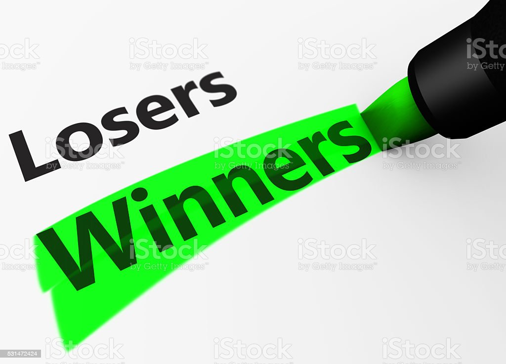 Winners Versus Losers Concept stock photo