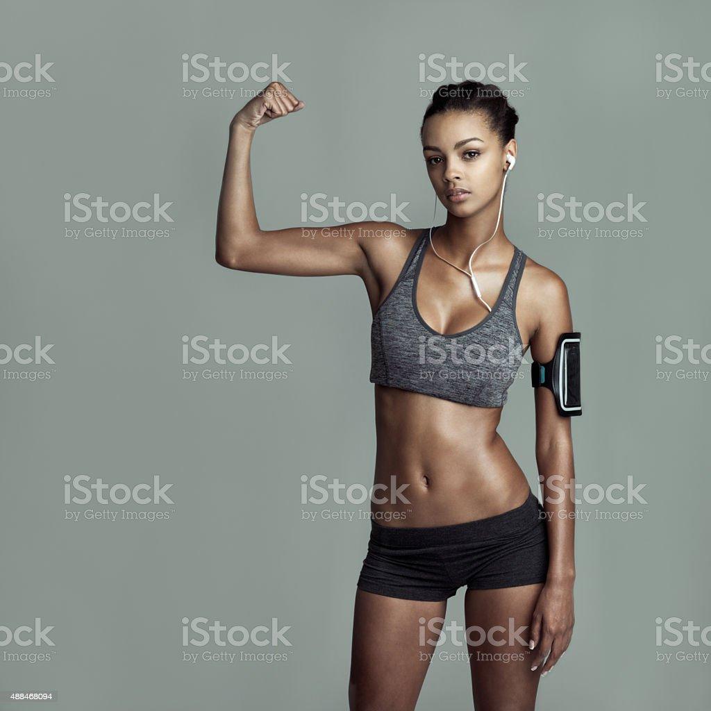 Winners workout stock photo