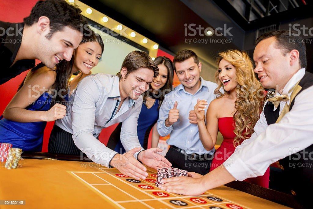 Winning at the casino stock photo