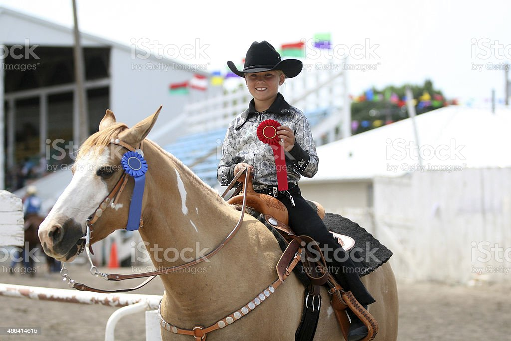 Winning at the County Fair royalty-free stock photo