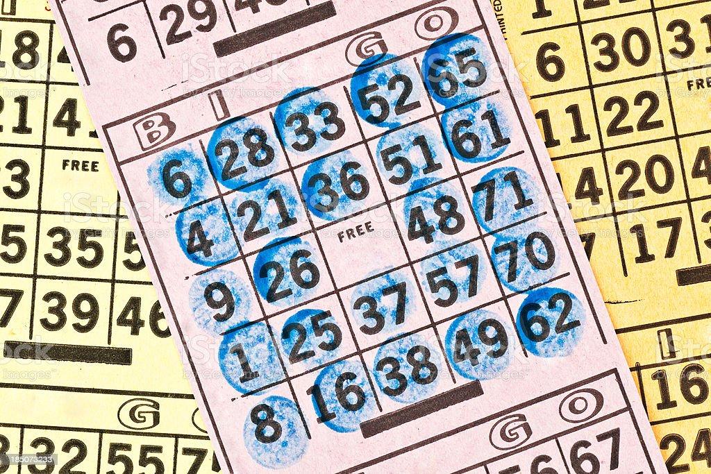 Winning Bingo Card stock photo