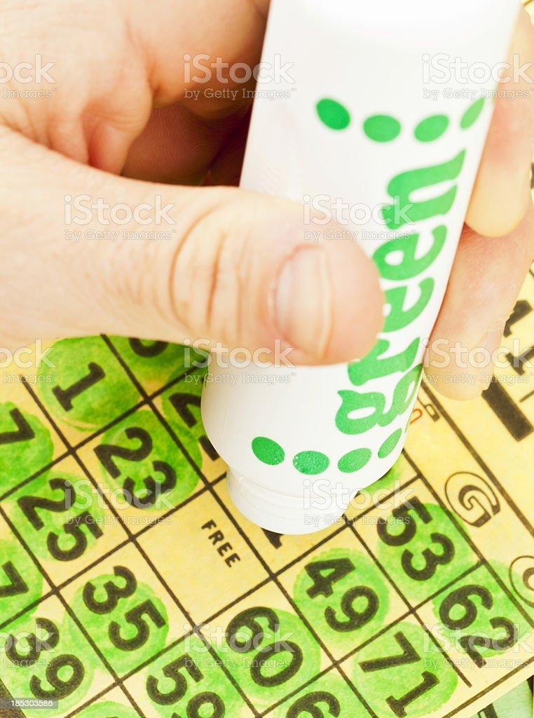Winning Bingo Card royalty-free stock photo