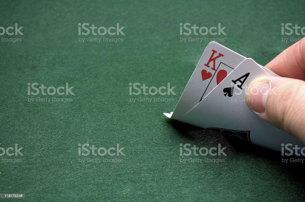 Winning Blackjack Hand royalty-free stock photo