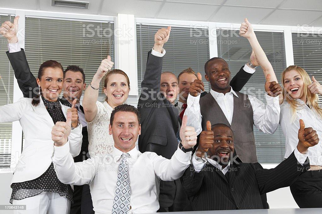 Winning business team. stock photo