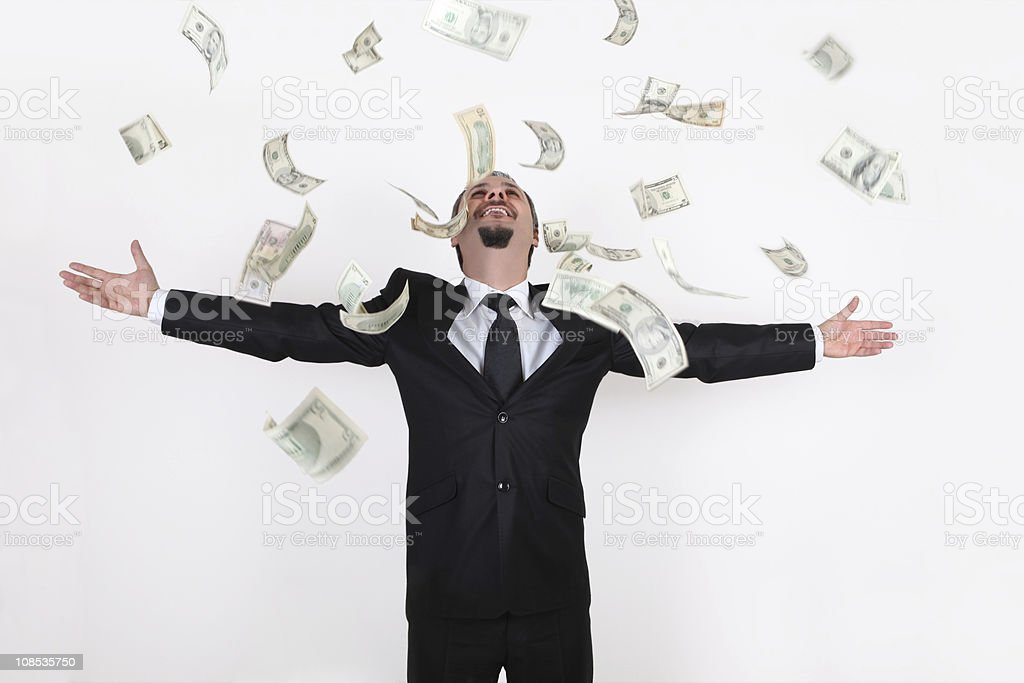 Winning Businessman stock photo