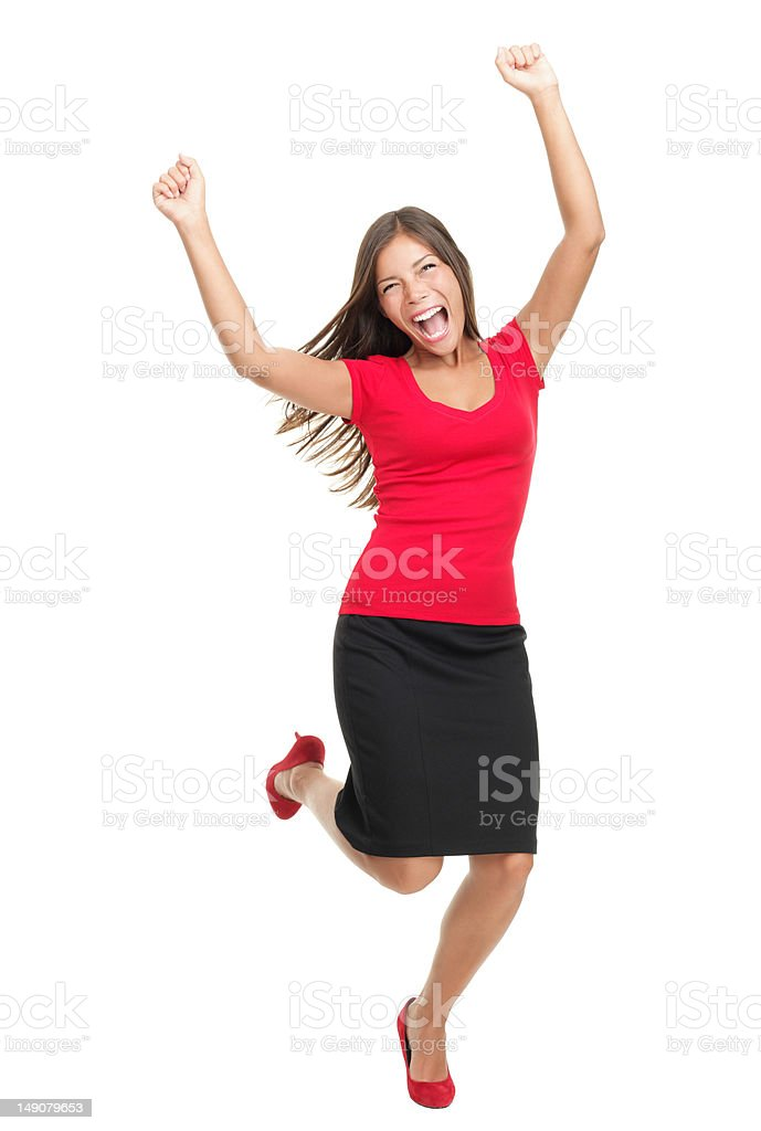 Winning businesswoman royalty-free stock photo