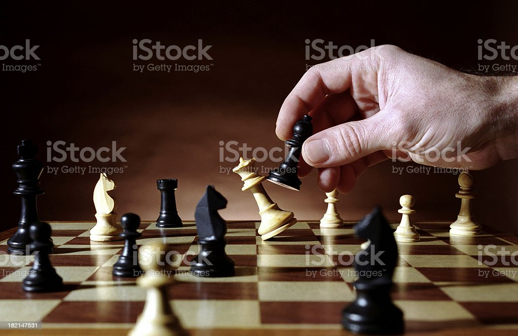 Winning chess move stock photo