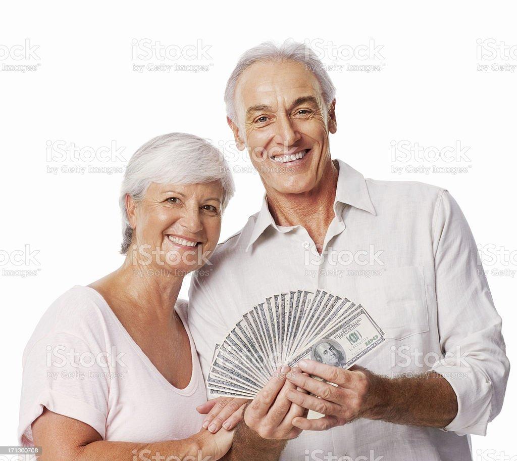 Winning Couple - Isolated royalty-free stock photo