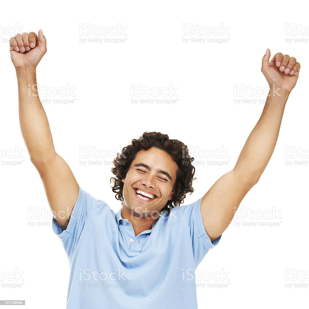 Winning feels great! royalty-free stock photo