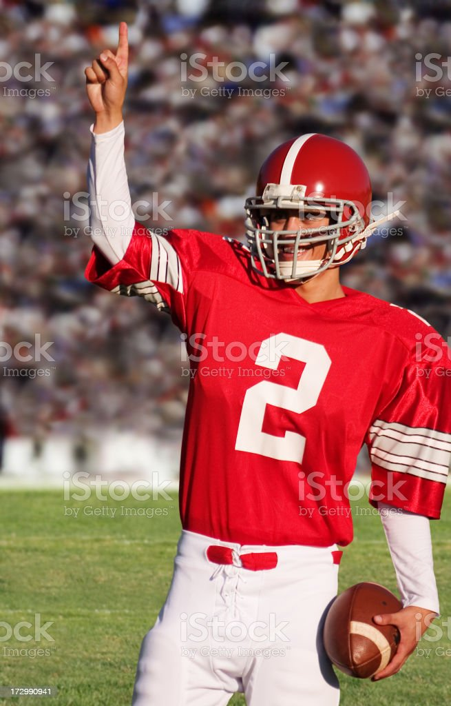Winning Football Player stock photo