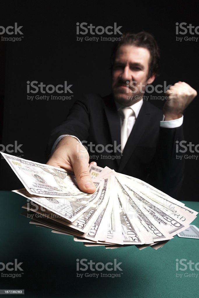 Winning gambler stock photo