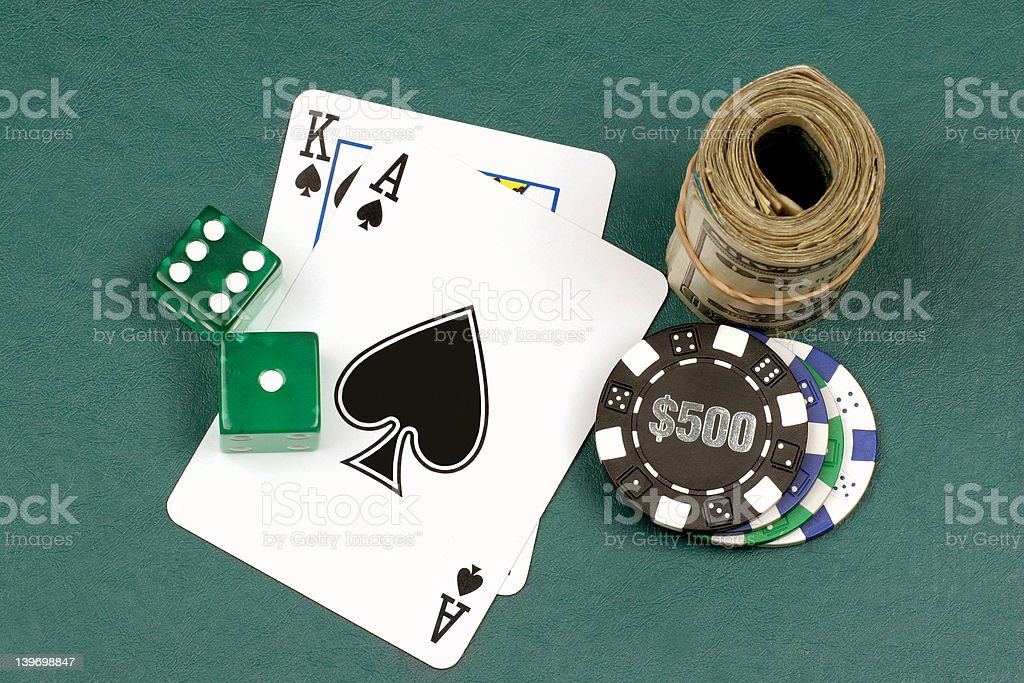 winning hand all in royalty-free stock photo