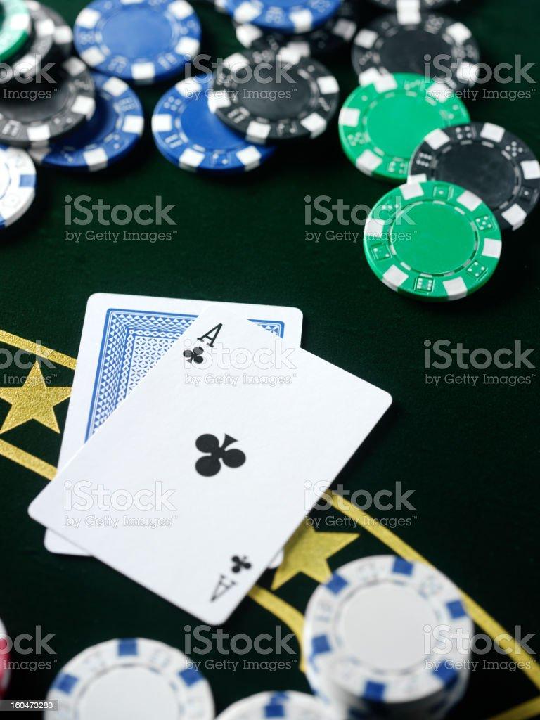 Winning Hand in Poker royalty-free stock photo