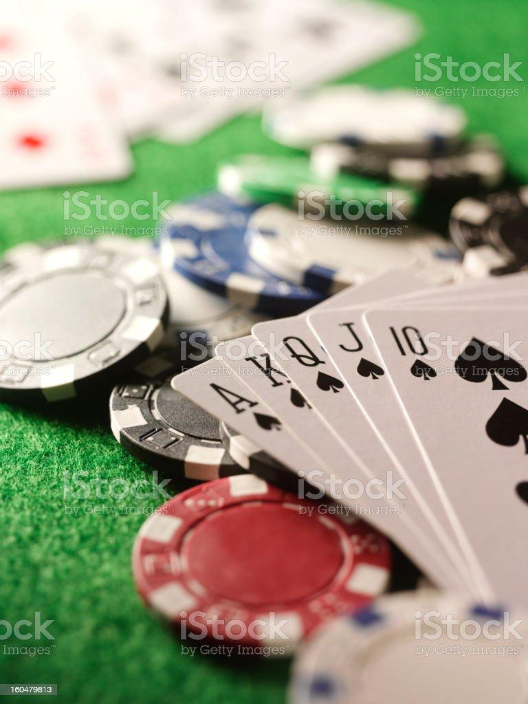 Winning Hand in Poker stock photo