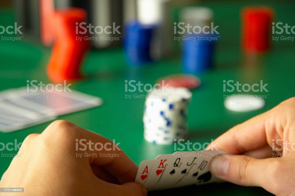 Winning Hand stock photo
