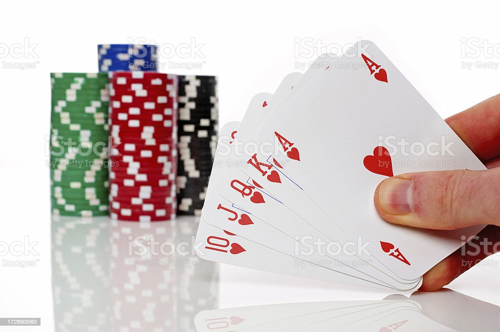 Winning Hand royalty-free stock photo