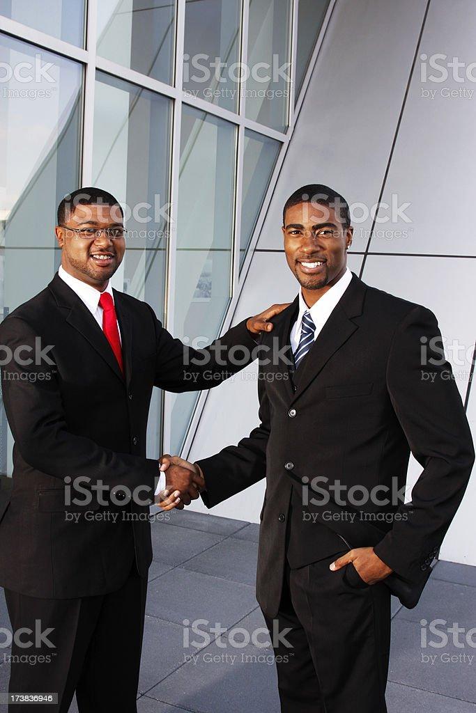 Winning Handshake royalty-free stock photo