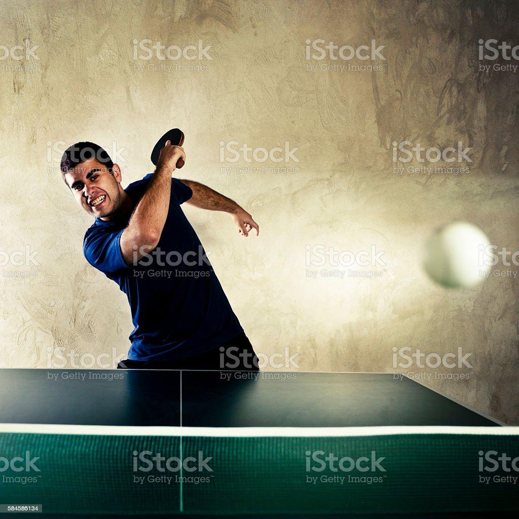 Winning hit stock photo