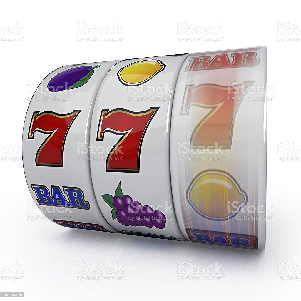 Winning line for slot machines stock photo