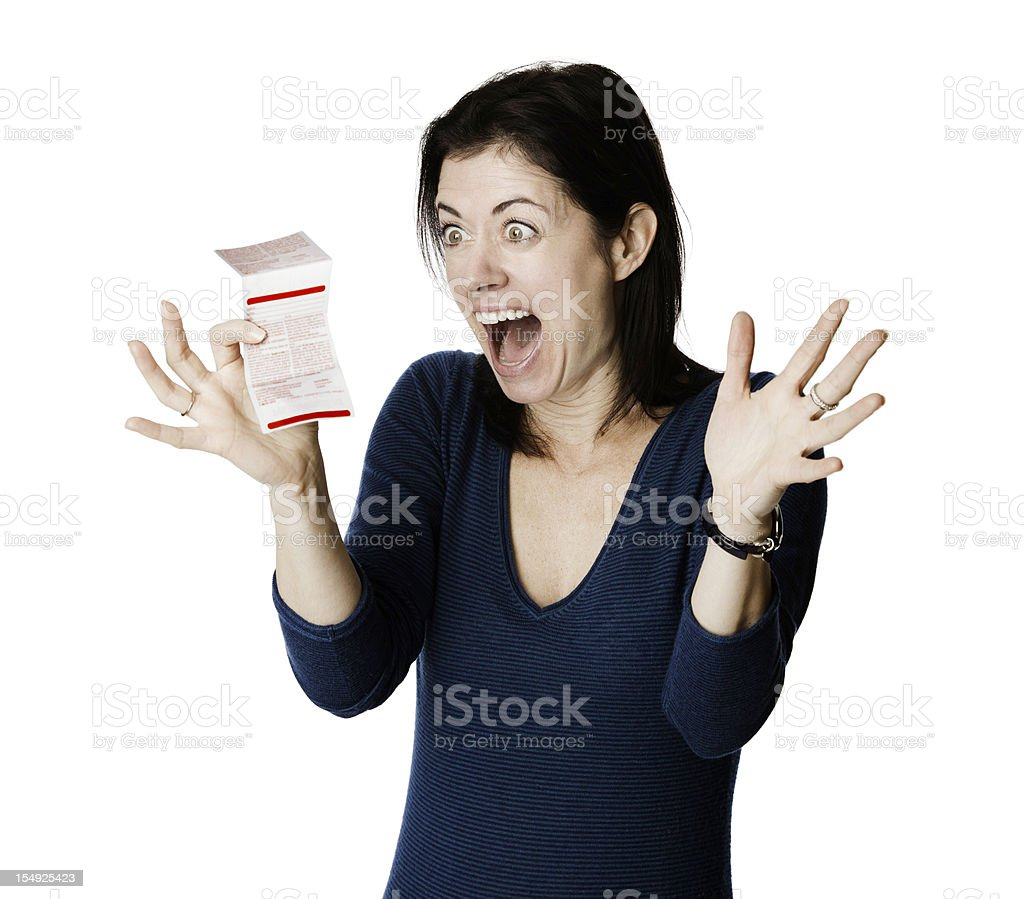 Winning lottery ticket stock photo