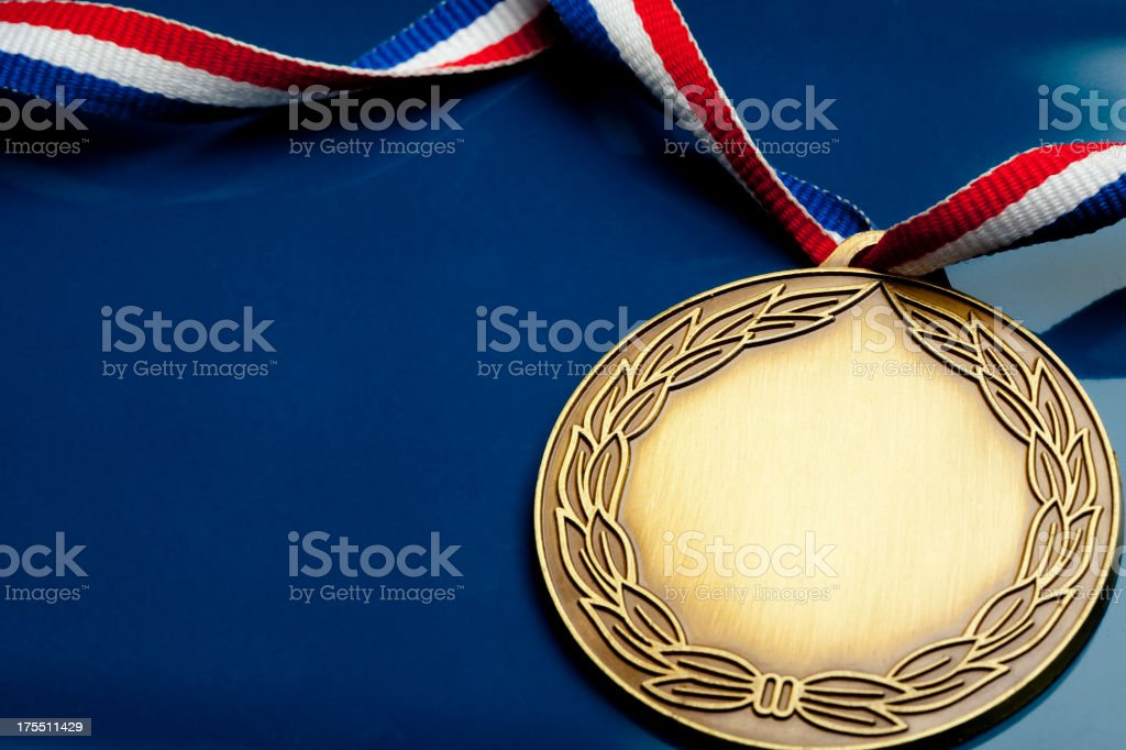 Winning medal stock photo