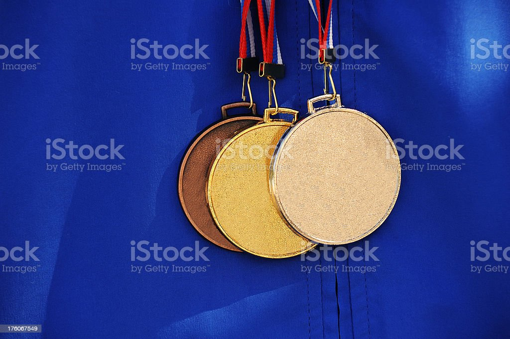 Winning medals royalty-free stock photo