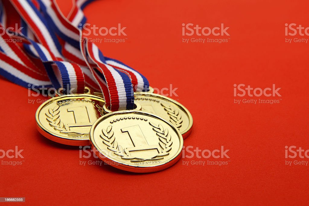 Winning Medals stock photo