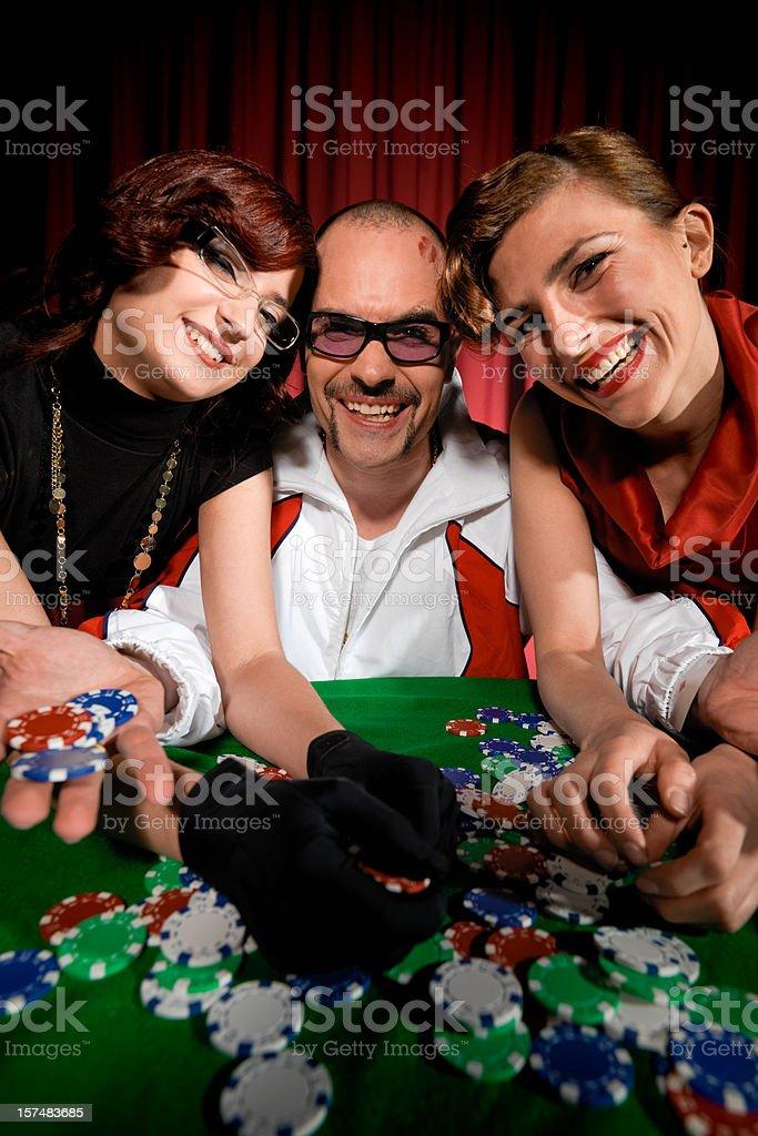 Winning Poker King royalty-free stock photo