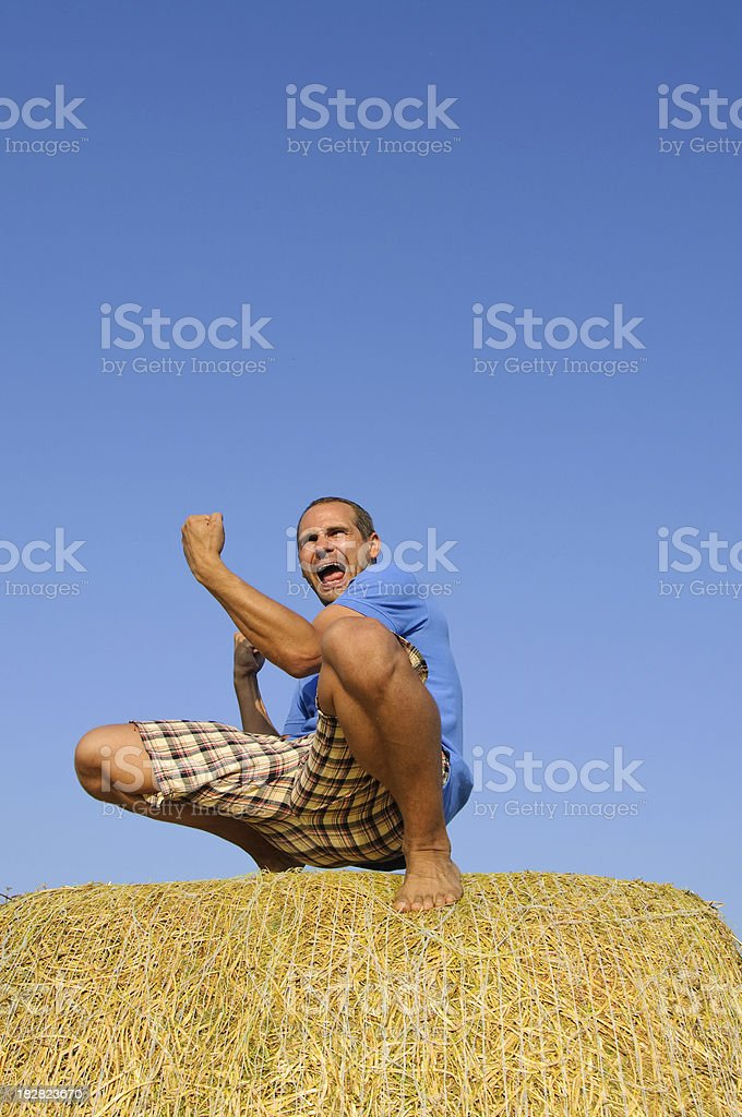 Winning pose royalty-free stock photo