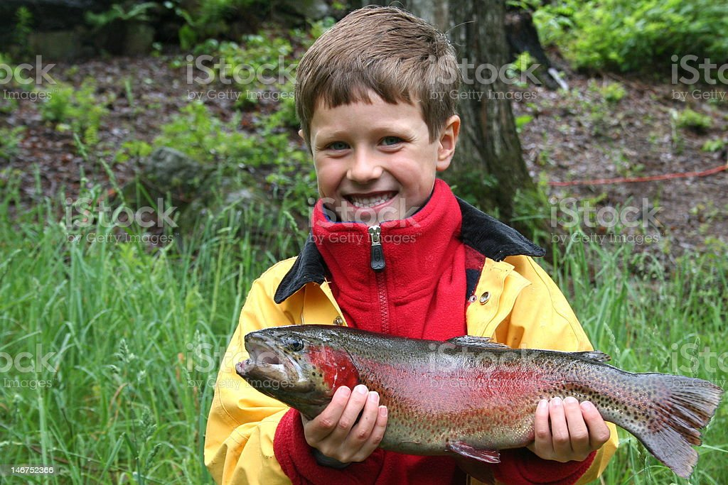 Winning Rainbow Trout! stock photo